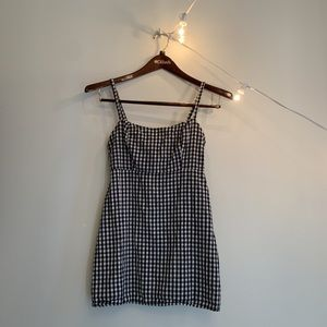 Brandy Melville Gingham black and white dress